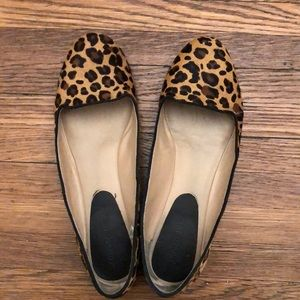 Antonio Melani Leopard calf hair loafers, size 9